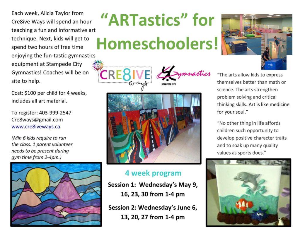 Homeschool ARTastics! (Art & Gymnastics) ~ Cre8ive Ways